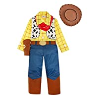 Officially Licensed Disney Pixar Toy Story Woody fancy dress, 3-4 & 5-6yrs Boys Cowboy Costume with Hat, Necktie & Sheriff