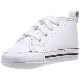 Converse  First Star Cuir,  Sneaker unisex bambino, Bianco (Weiß (Blanc)), 18
