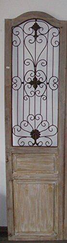 EDK Holztür/Sichtschutz/Raumteiler aus Holz mit Metallapplikationen, H185cm