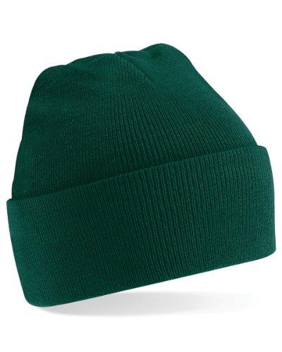 Beechfield Unisex Turn-up Beanie Baseball Cap, Grün (Bottle Green 000), One Size -