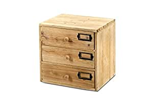 Set Of 3 Wooden Storage Drawers Small For Home Office Diy Tools