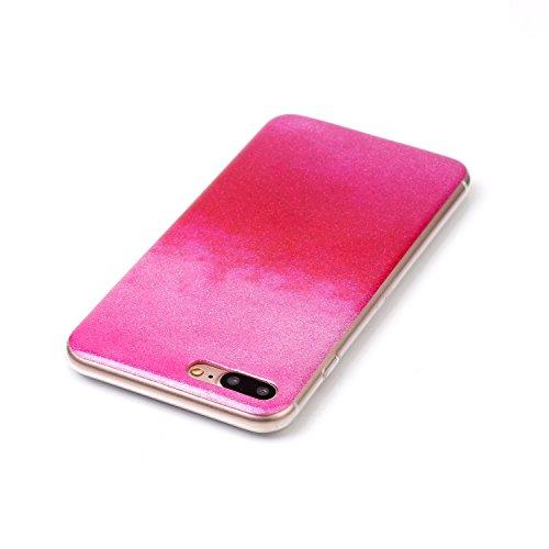 iPhone Case Cover Gradient Farbmuster Flexible Silikon TPU Schutzmaßnahmen zurück Fall für IPhone 7 Plus ( Color : L , Size : IPhone 7 Plus ) B