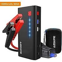 Azdome Batterie Demarreur de Voiture 18000mAh 800A Booster Batterie Portable jusqu'à 6.5L de Gaz et 5.5L de Moteur Diesel Chargeur Batterie Voitures Urgence avec LED Flashlight Port Charge Rapide