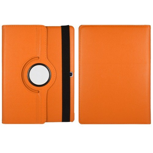 TGK® 360 Degree Rotating Luxury Leather Stand Smart Case Cover for Samsung Galaxy Tab S SM- T800, SM- T805 (10.5 inch) (Orange)  available at amazon for Rs.499