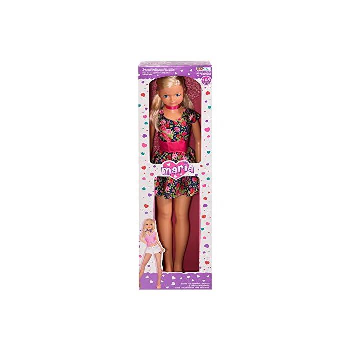 61IjedpHprL Muñeca María de CB Toys Materiales: plástico duro y tela Medidas: 105 cm