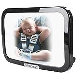 Infantastic Rückspiegel Baby-Spiegel Autospiegel für Babyschalen L/B/T ca.: 29/19/8 cm in Schwarz