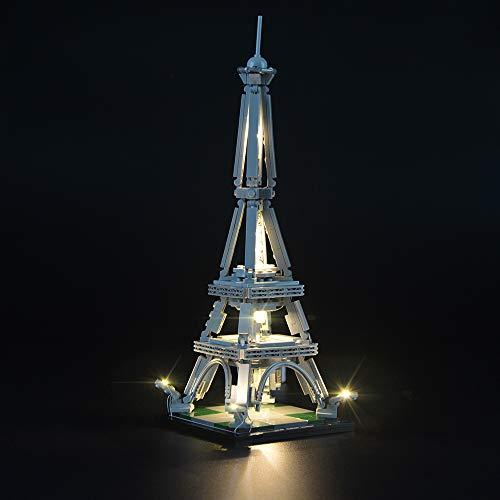 LIGHTAILING Licht-Set Für (Architecture der Eiffelturm) Modell - LED Licht-Set Kompatibel Mit Lego 21019(Modell Nicht Enthalten)