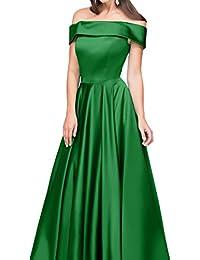 ivyd ressing Mujer Modern U de pico largo línea satén a fiesta vestido Prom vestido fijo para vestido de noche