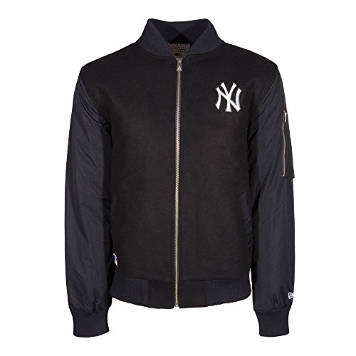 New Era, Uomo, Remix II Bomber New York Yankees Nvy, Lana, Giacca, Nero, S EU