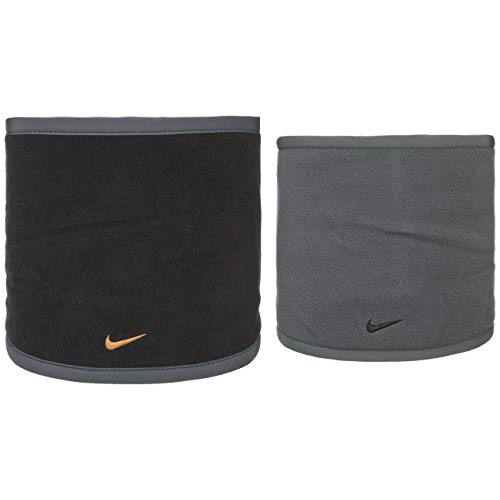 Nike reversible neck warmer scaldacollo nero oro pile