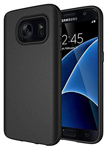 Coque Samsung Galaxy S7, Diztronic Full Matte TPU Series - Slim-Fit Soft Touch Flexible Phone Case - Full Matte Black