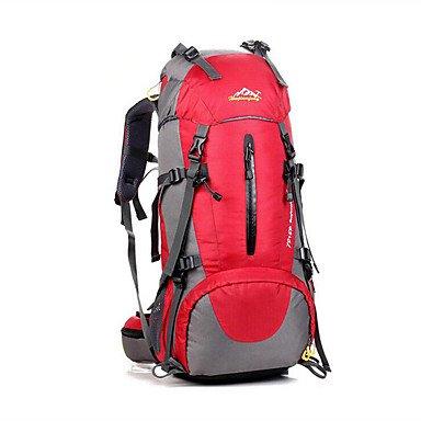 50L L Rucksack Camping & Wandern Klettern Fitness Legere Sport Draußen Leistung Legere SportWasserdicht Schnell abtrocknend Atmungsaktiv Blue