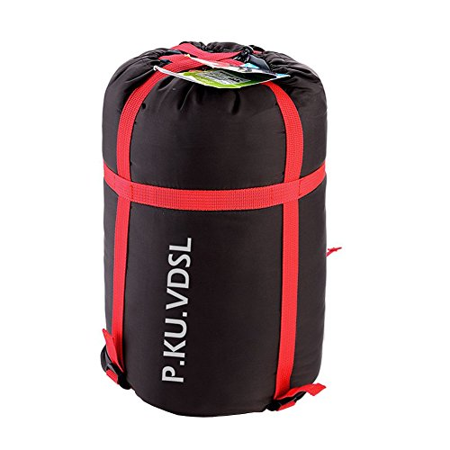 Compression Sack,P.KU.VDSL® or Dry Compression Sack or Stuff Sack Enhanced Compression Bags Space Bags Storage Bags for Outdoor Travelling Camping Hiking (Black)