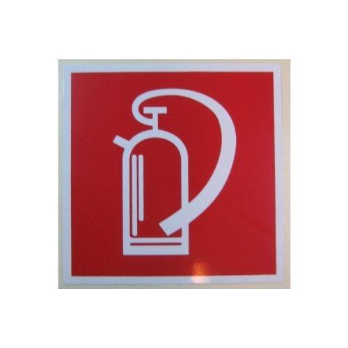 Hinweisschild KNS Feuerlöscher selbstklebend/nachleuchtend 148 x 148 mm, Norm BGV A8
