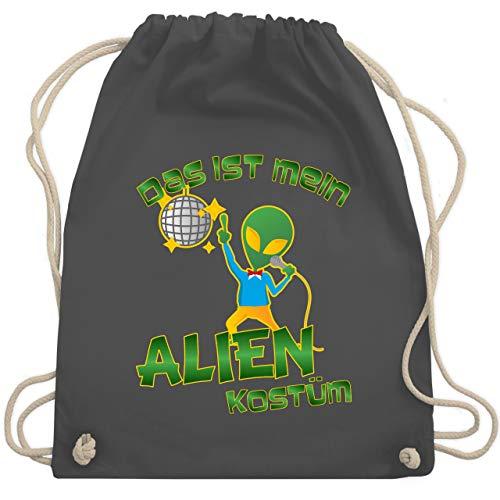 Karneval & Fasching - Das ist mein Alien Kostüm Disco - Unisize - Dunkelgrau - WM110 - Turnbeutel & Gym Bag