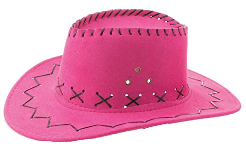 Kinder Cowboyhut mit Ziernähten - Pink - Toller Westernhut zum Cowgirl ()