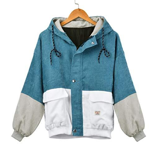 Vovotrade Damen Übergangsjacke Windbreaker Jacke Kapuzenjacke Colorblock Coats Damen,Mode Frauen...