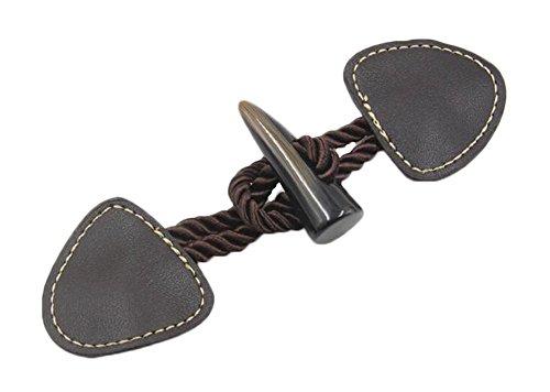 Black Temptation Leder Toggle Buttons Mantel Jacke Duffle Handgefertigte DIY Handwerk 2 Pack -