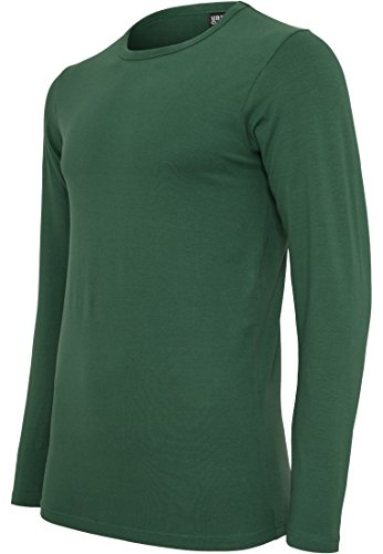 TB816 Fitted Stretch L/S Tee Langarmshirt Forest