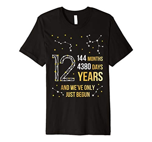 12 Years Anniversary Tees Al Mejor Precio De Amazon En Savemoney