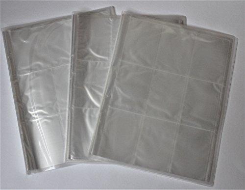 3 x Sammelmappe Binder leer mit je 24 Seiten für bis zu 432 Karten von z.B. Panini und Topps (3 Seite Binder)