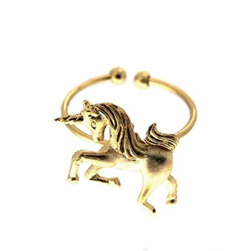 Sweet Deluxe Ring Einhorn, mattgold I Damen-Ring I Mode-Schmuck Ring für Frauen I Ringe Rings für Mädchen I modisches Design-Accessoires