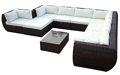Amazonde Baidani C Designer Xxl Sofa Extreme Hocker Mit Auflage Couchtisch  Mit Glasplatte Schwarz With Gartenmbel Sets With Gartenmbel Set Amazon