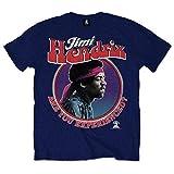 Jimi Hendrix Herren Are You Experienced T-Shirt, Blau (Navy), (Herstellergröße: Large)