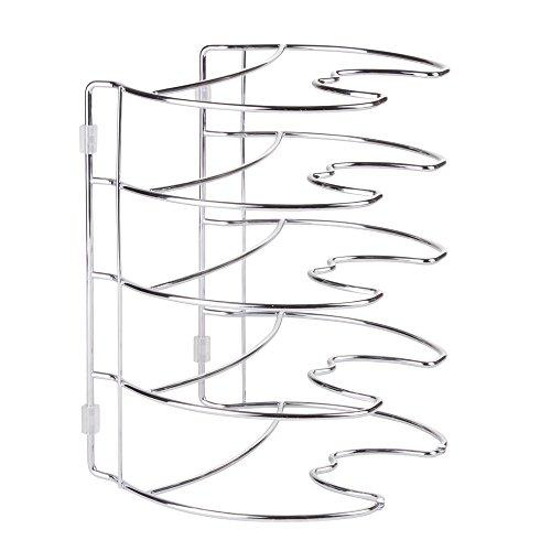 InterDesign Classico - Organizador para almacenamiento en el gabinete de cocina; para sartenes, ollas - 27,9 cm, vertical - Cromado
