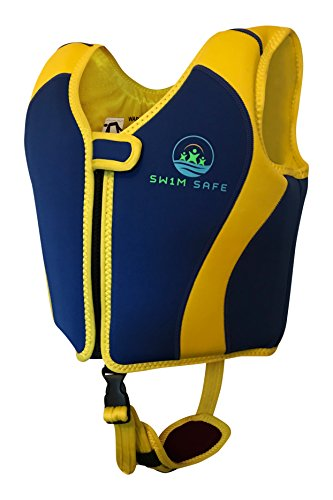 Swim Life Vest - Boys And Girls Fixed Float Bouyancy Neoprene Jacket With Unique Safety Strap - Toddlers Childs Kids Childrens Swimming Training Aid