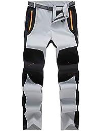 Freiesoldaten Hombres Ligero Al Aire Libre Excursionismo Alpinismo Pantalones Impermeables con Cinturón
