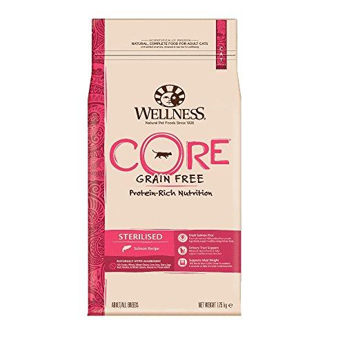 Wellness CORE Sterilised Getreidefreies Katzenfutter Trocken, Hoher Fleischanteil, Lachs und Thunfisch, 1,75 kg