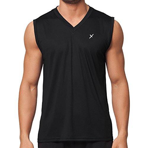 CFLEX Men Sportswear Collection - Herren Funktion Sport Kleidung - Fitness Quickdry Muscle-Shirt Fitness Sport Top - Schwarz Größe XXL