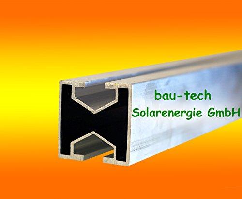 3 Meter Montageprofil leicht 40 x 40mm von bau-tech Solarenergie