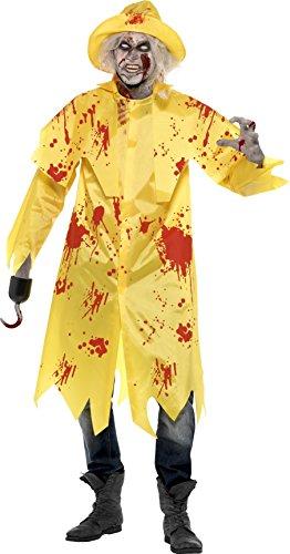 Preisvergleich Produktbild Smiffys, Herren Zombie-Südwester Kostüm, Jacke und Kopfbedeckung, Größe: L, 23293