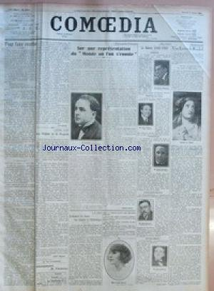 COMOEDIA [No 3882] du 04/08/1923 - POUR FAIRE RECETTE PAR LEO CLARETIE - LES MEFAITS DE LA PROPRETE PAR ANDRE RIGAUD. - ABONNEMENTS DE VACANCES - SUR UNE REPRESENTATION DU MONDE OU L'ON S'ENNUIE PAR GABRIEL BOISSY. - L'EXAMEN DE DANSE DES CLASSES DE RYTHMIQUE PAR A. R. - LA SAISON 1922923 PAR GASTON LEBEL. - UNE LETTRE DE RACHEL.