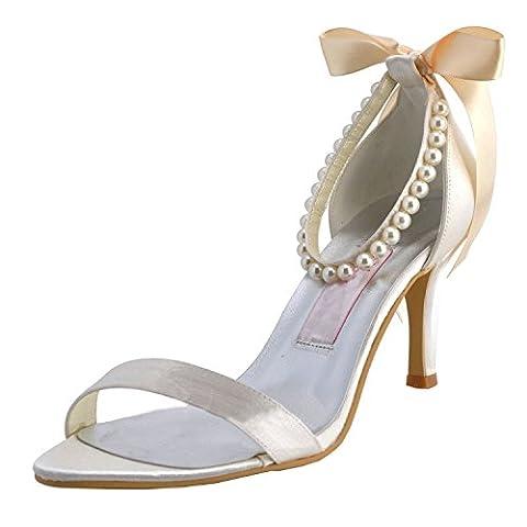 Kevin Fashion , Chaussures de mariage tendance femme - beige - ivoire, 39