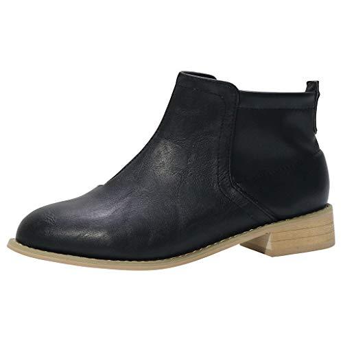 Botines Mujer Tacon Bajo Invierno Zapatos Tacón Clásicas