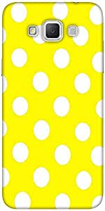 Snoogg Yellow Polka Dot Designer Protective Back Case Cover For Samsung Galax...