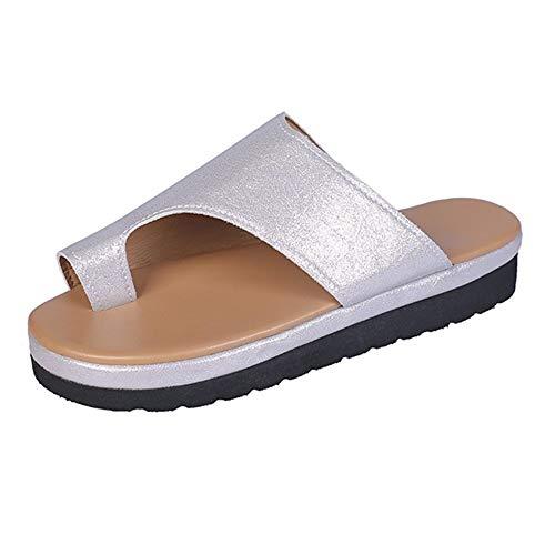 Strand Reise Schuhe Plattform Sandale Hallux Valgus Unterstützung PU Leder Für Frauen Damen Casual Mode Bequeme Große Zehe Knochen Korrektive Zehenkorrektur - Knochen-leder-schuhe