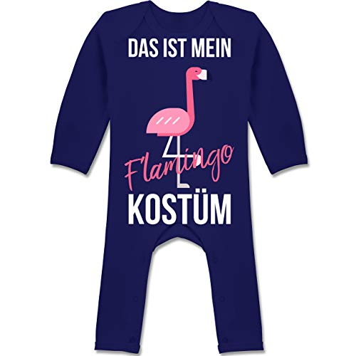 Shirtracer Karneval und Fasching Baby - Das ist Mein Flamingo Kostüm - 3-6 Monate - Navy Blau - BZ13 - Baby-Body Langarm für Jungen und ()