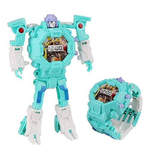 LHKJ 2-in-1Kinder Digitaluhr Elektronische Roboter Spielzeug, kreatives pädagogisches Spielzeug für Jungen Mädchen