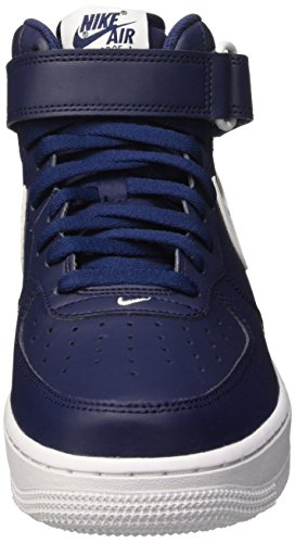 Nike - Air Force 1 Mid 07, Scarpe da ginnastica Uomo Blu (Midnight Navy/White-White)