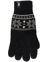 Heat Holders Mens 1 Pair 2.3 Tog Fairisle Gloves In Black