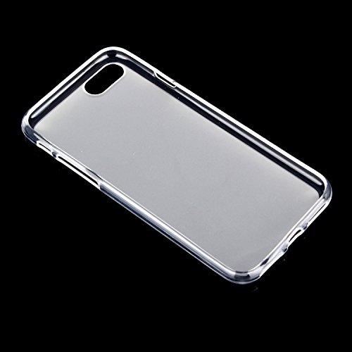 tinxi® spedizione rapida!Custodia Silicone per Apple iphone 7 Plus(5,5 pollici) Anti-shock/Scivolo Cover Case TPU prottetiva con PC Gold Mobile phone frame Trasparente/Bianco/Opaco(Matte)