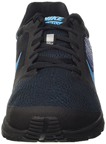 Nike Air Zoom Fly 2, Scarpe sportive, Donna Nero (Black/Blue Lagoon-Game Royal)