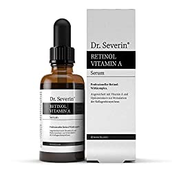 Dr. Severin® Retinol Vitamin A Hyaluronsäure Serum. Hochkonzentriert & hochdosiert. Anti-Aging, strafft Falten, Serum 2019, Anti Pickel + Mitesser. Fördert Kollagenproduktion | 50ml
