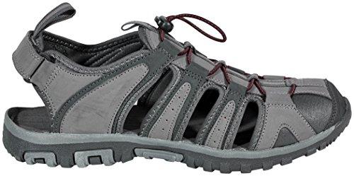 Hi-Tec Cove Sandal, Sandales de Randonnée homme Gris (Charcoal/grey/core Red)