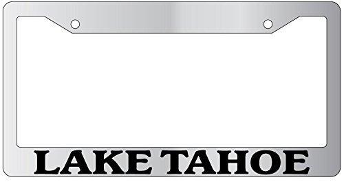 DIY Rine 30,5 x 15,2 cm Aluminium Metall Kennzeichenrahmen Humor Kennzeichenrahmen Abdeckung Halter Auto Tag Rahmen 2 Loch Schrauben, Lake Tahoe (Tahoe License Lake Plate Frame)