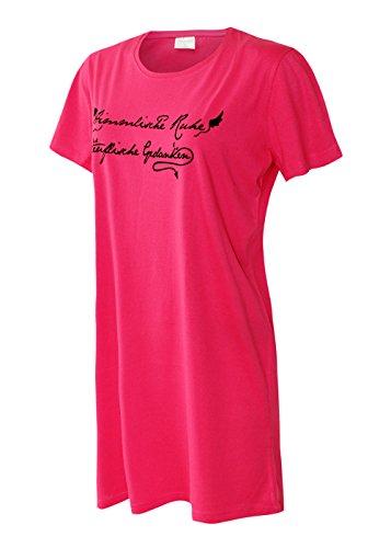 Pyjama Sleepshirt (Damen Nachthemd Damen Pyjama Damen Sleepshirt Damen Schlafshirt aus 100% Baumwolle Gr L/44-46)